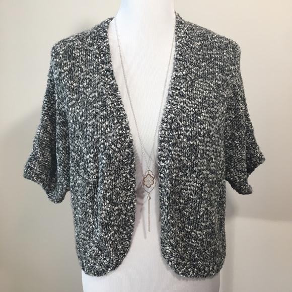 c1f1cffce3 NWT LOFT Bolero Black   White Cardigan Sweater S
